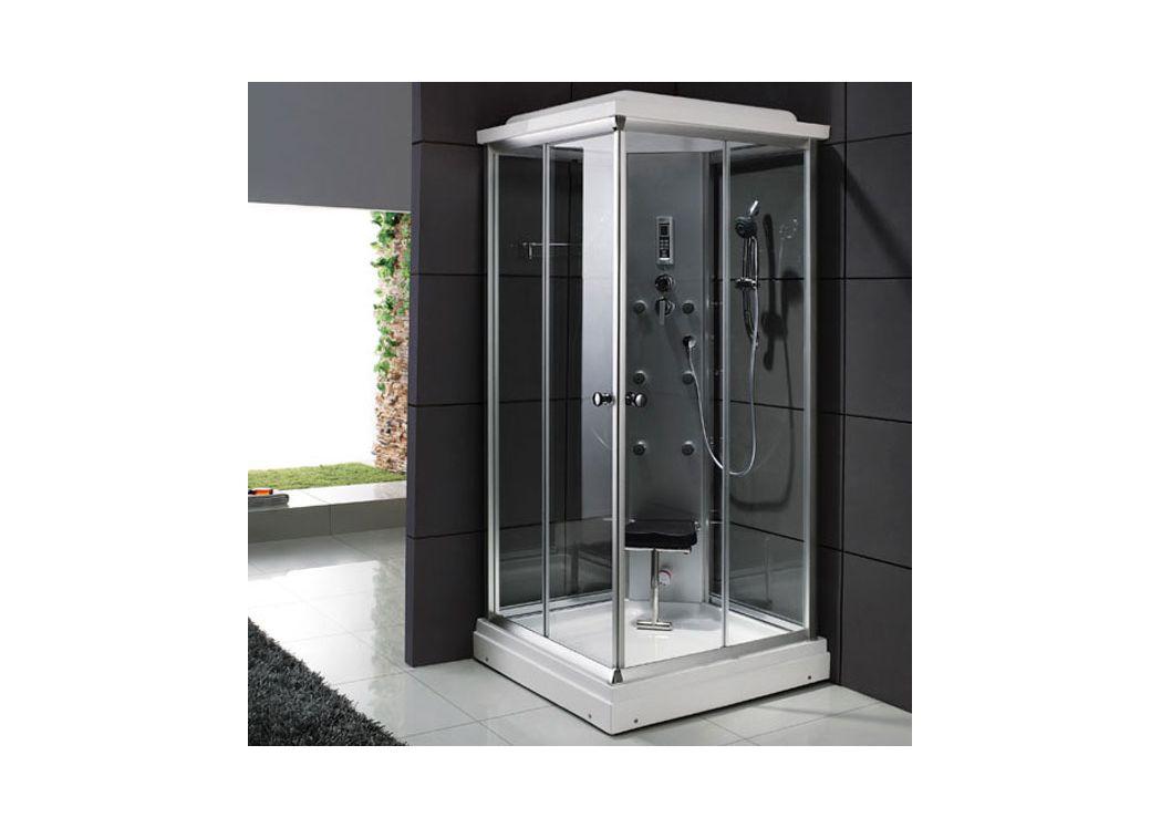 cabine de douche carr e 95x95 sa gon cabine de douche avec si ge int gr distribain. Black Bedroom Furniture Sets. Home Design Ideas