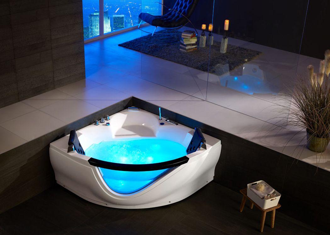 baignoire d 39 angle baln o 2 places maldives baignoire d 39 angle baln o 2 places 43 jets distribain. Black Bedroom Furniture Sets. Home Design Ideas