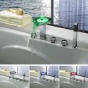 Robinet mélangeur LED pour baignoire SDLPF03