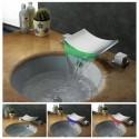 Robinet mélangeur LED cascade SDLPT06