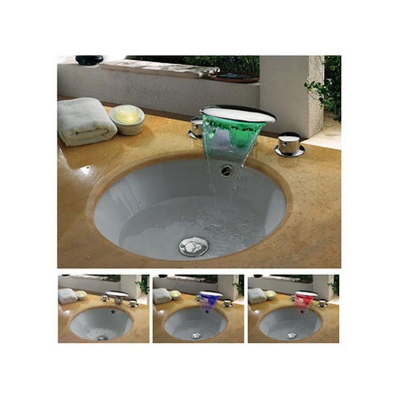 Mélangeur pour vasque avec cascade à leds SDLPT09