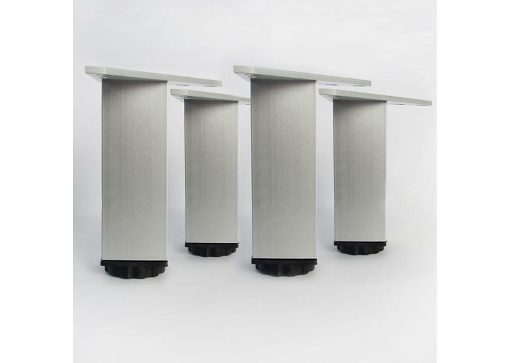 pieds carr s ajustables 120 mm distribain. Black Bedroom Furniture Sets. Home Design Ideas
