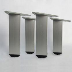 Lot de 4 pieds carrés ajustables pour meuble en 150 mm