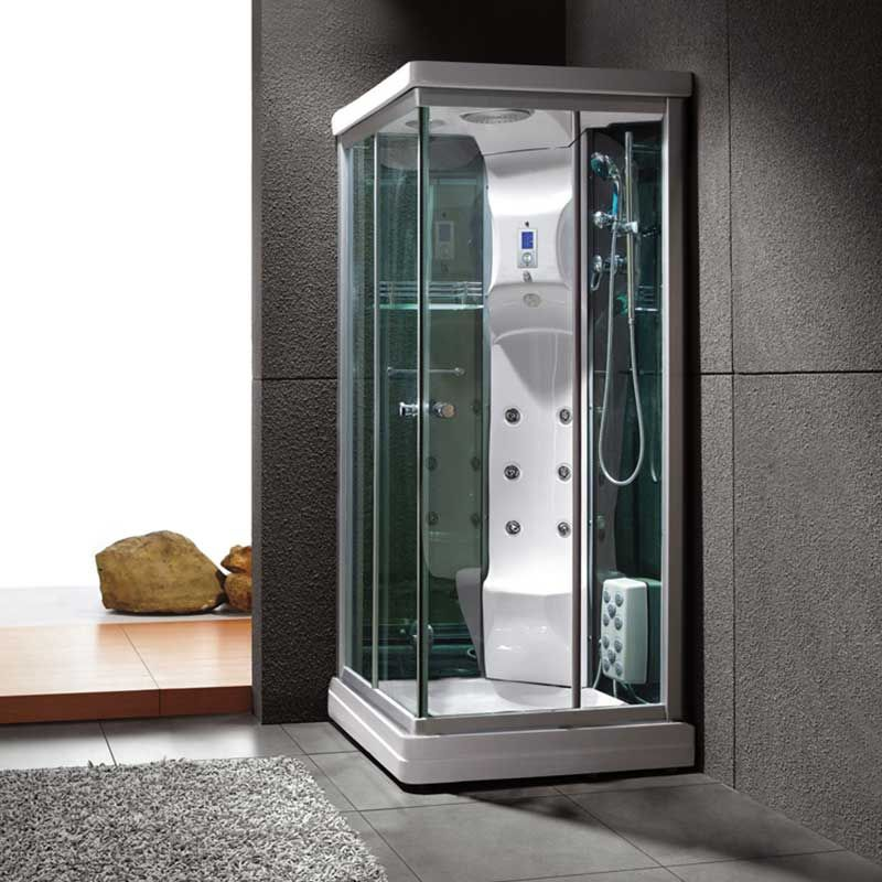 cabine de douche hammam 90x90 swan petite cabine de douche blanche distribain. Black Bedroom Furniture Sets. Home Design Ideas
