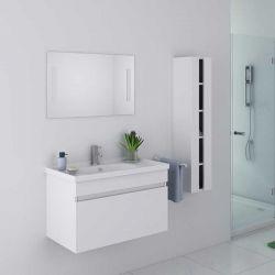 Meuble de salle de bain simple vasque Blanc