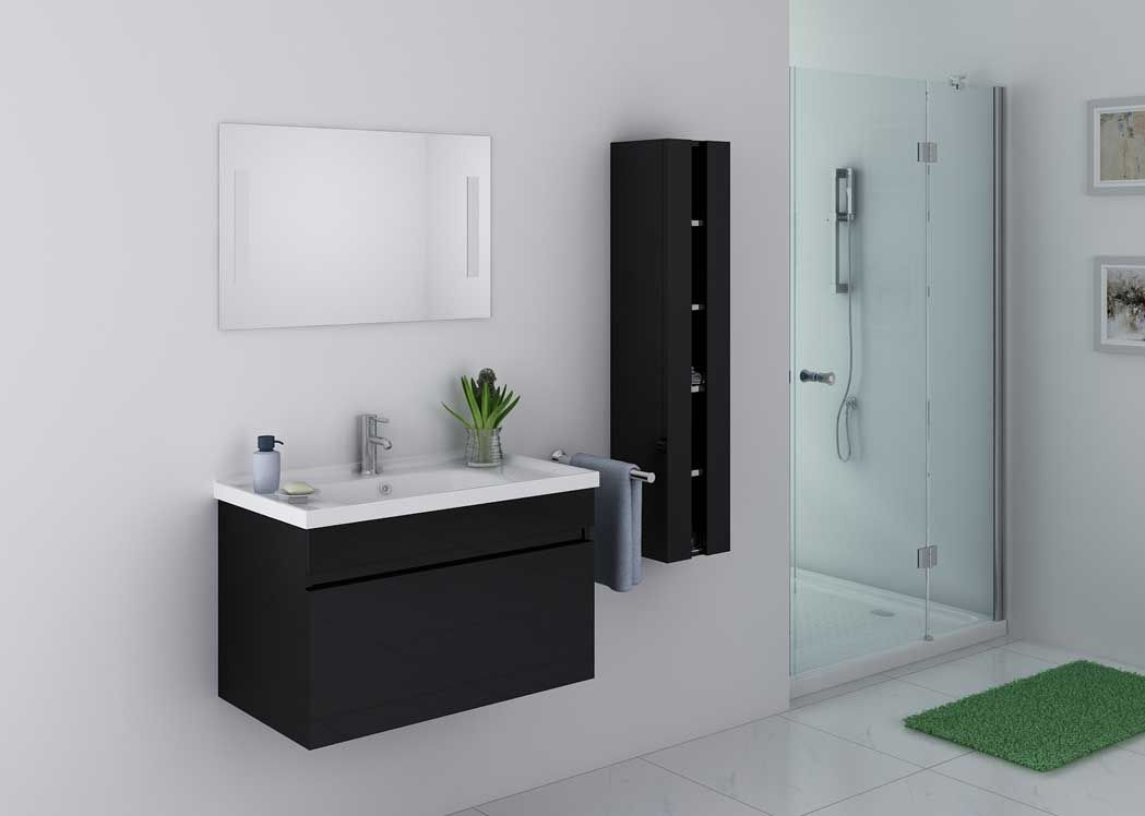 ensemble de salle de bain noir meuble de salle de bain. Black Bedroom Furniture Sets. Home Design Ideas