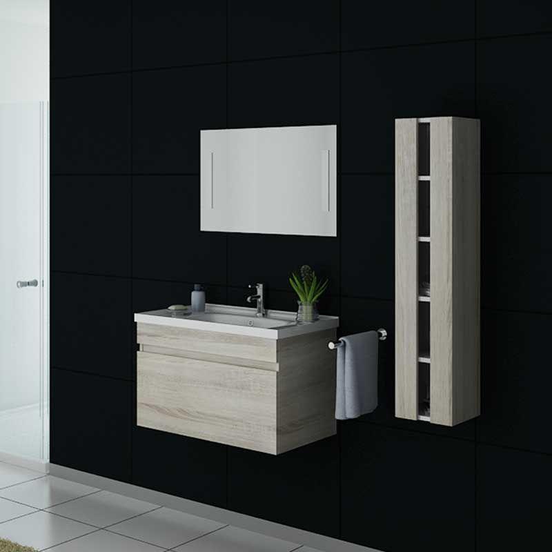Meuble simple vasque DIS800A couleur Scandinave