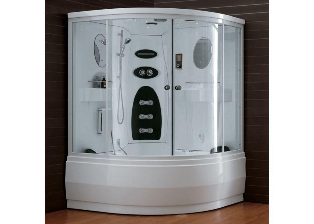 baignoire avec portes et douche tropiques baignoire bain douche 151x151 distribain. Black Bedroom Furniture Sets. Home Design Ideas