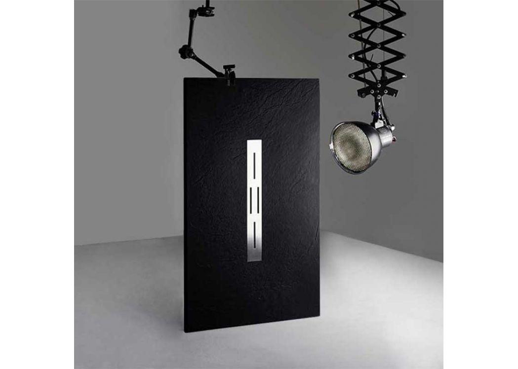 receveur de douche extra plat noir ardesia. Black Bedroom Furniture Sets. Home Design Ideas