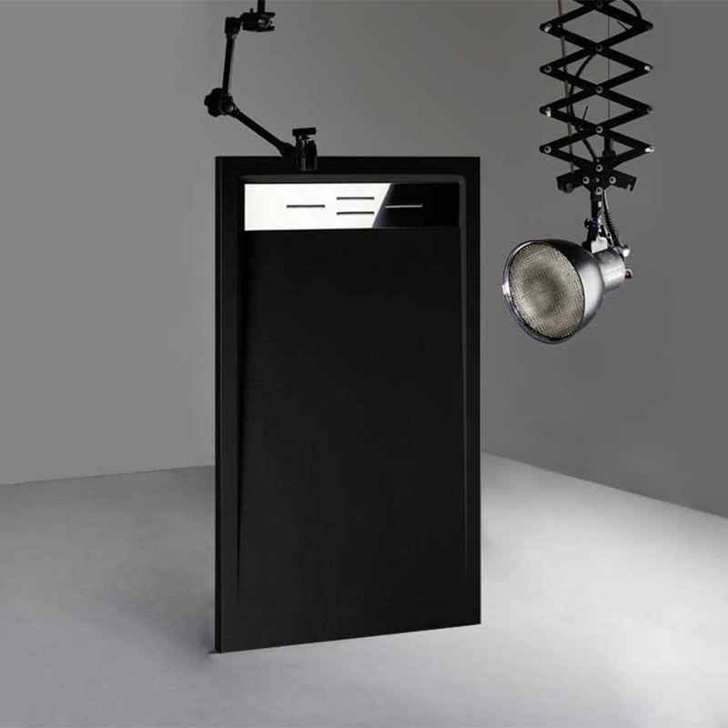 receveur de douche extra plat noir canto receveur de. Black Bedroom Furniture Sets. Home Design Ideas