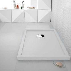Receveur de douche en Gel coat avec rebords LISO ENMARCADO Blanc