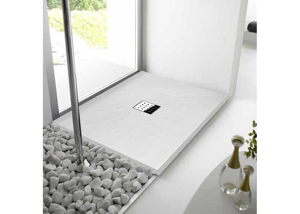 receveur de douche extra plat blanc pizarra. Black Bedroom Furniture Sets. Home Design Ideas