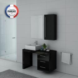 Meubles simple vasque VERONE Noir laqué