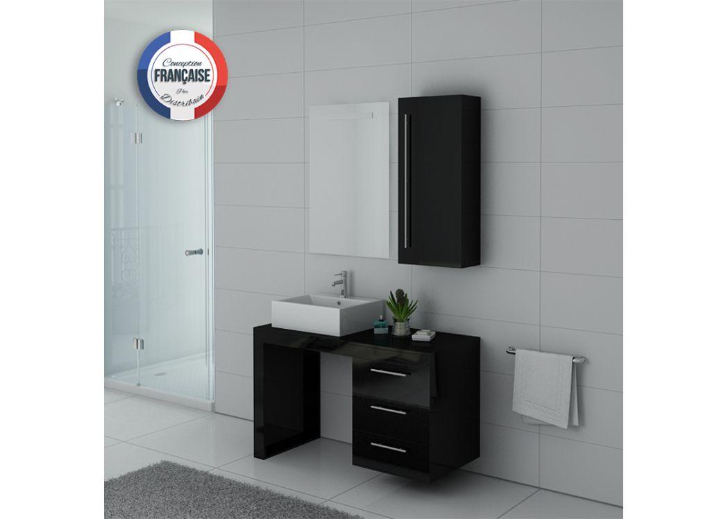 ensemble meuble et lavabo pour salle de bain ensemble de salle de bain noir verone distribain. Black Bedroom Furniture Sets. Home Design Ideas