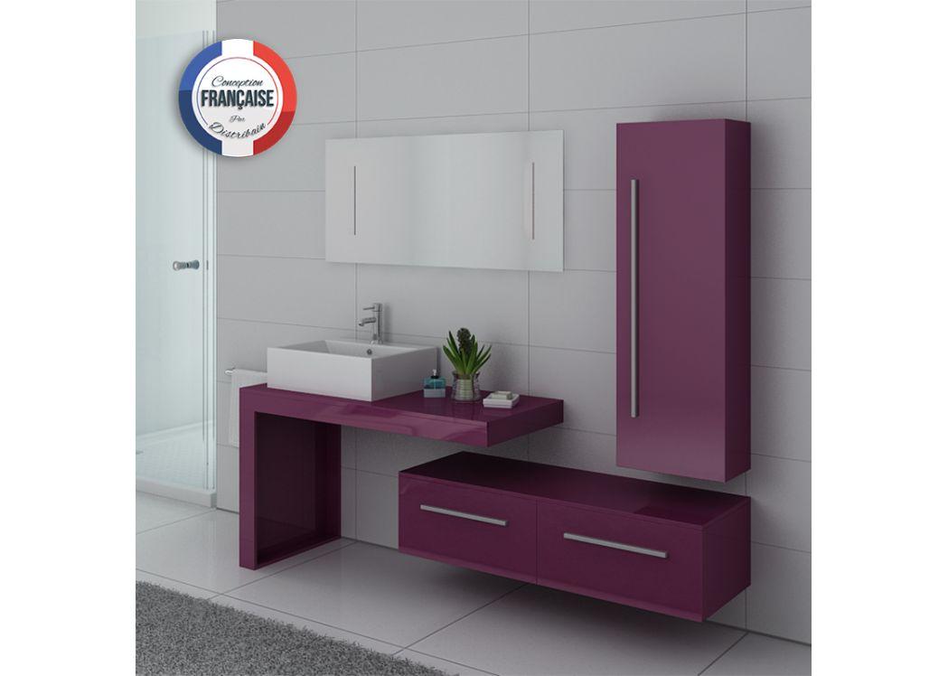 meuble de salle de bain 1 vasque 90 cm aubergine meuble vasque simple dis9250 distribain. Black Bedroom Furniture Sets. Home Design Ideas