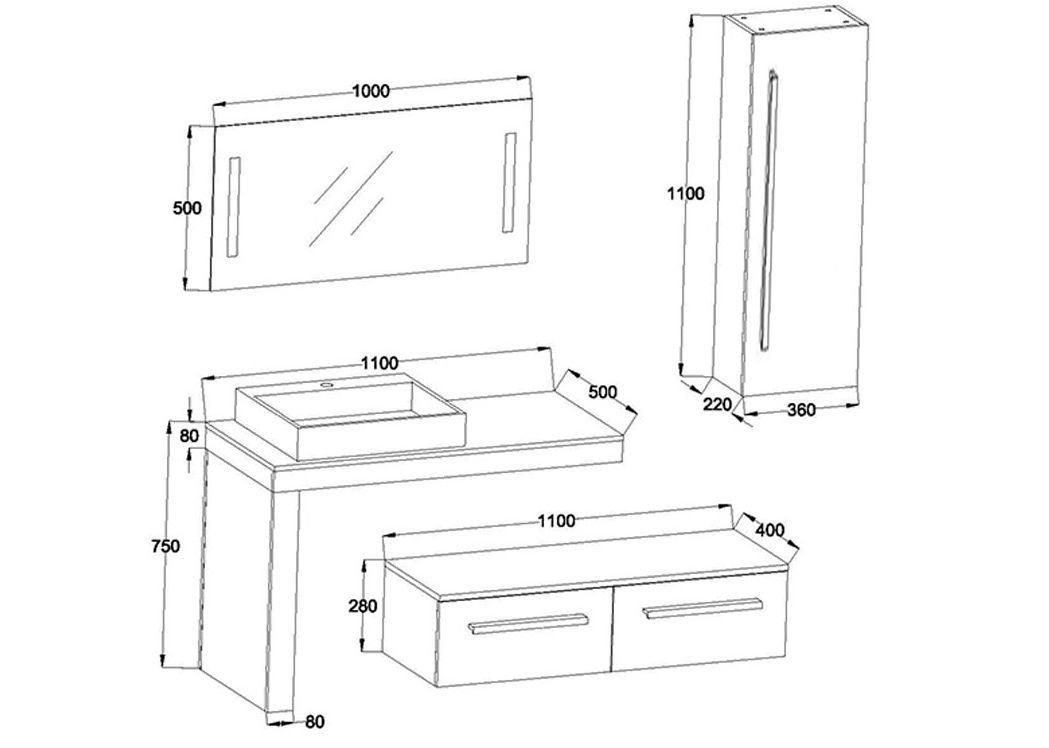 Meuble simple vasque design DIS9250, meuble simple vasque ...