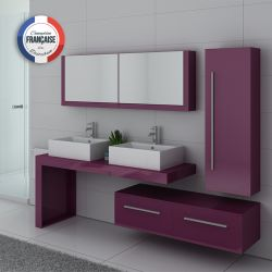 Ensemble double vasque DIS9350 Aubergine