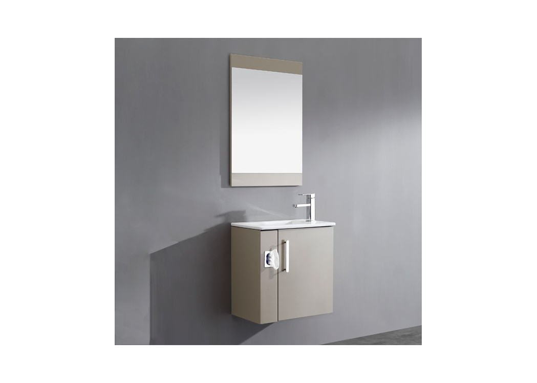 Meuble salle de bain simple vasque marron glac sd092 550amg distribain - Meuble sdb simple vasque ...
