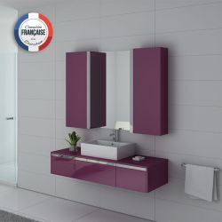 Ensemble de salle de bain simple vasque DIS9650 Aubergine