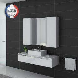 Meuble simple vasque DIS9650 Blanc