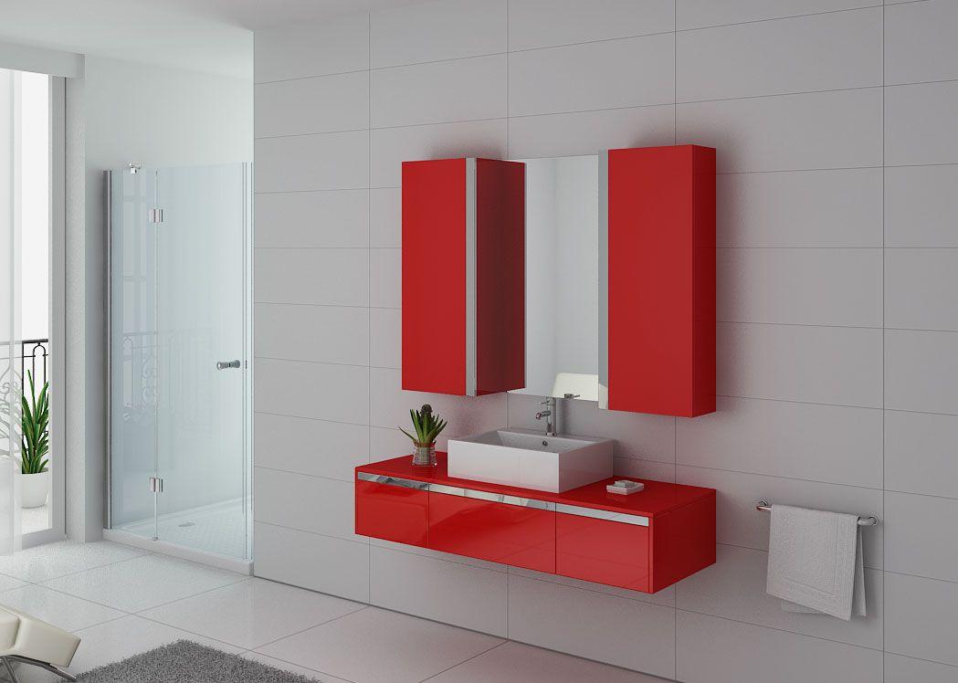 meuble de salle de bain rouge dis9650co meuble de salle de bain 140 cm simple vasque distribain. Black Bedroom Furniture Sets. Home Design Ideas