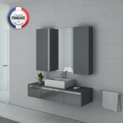 Meuble salle de bain simple vasque DIS9650 Gris Taupe