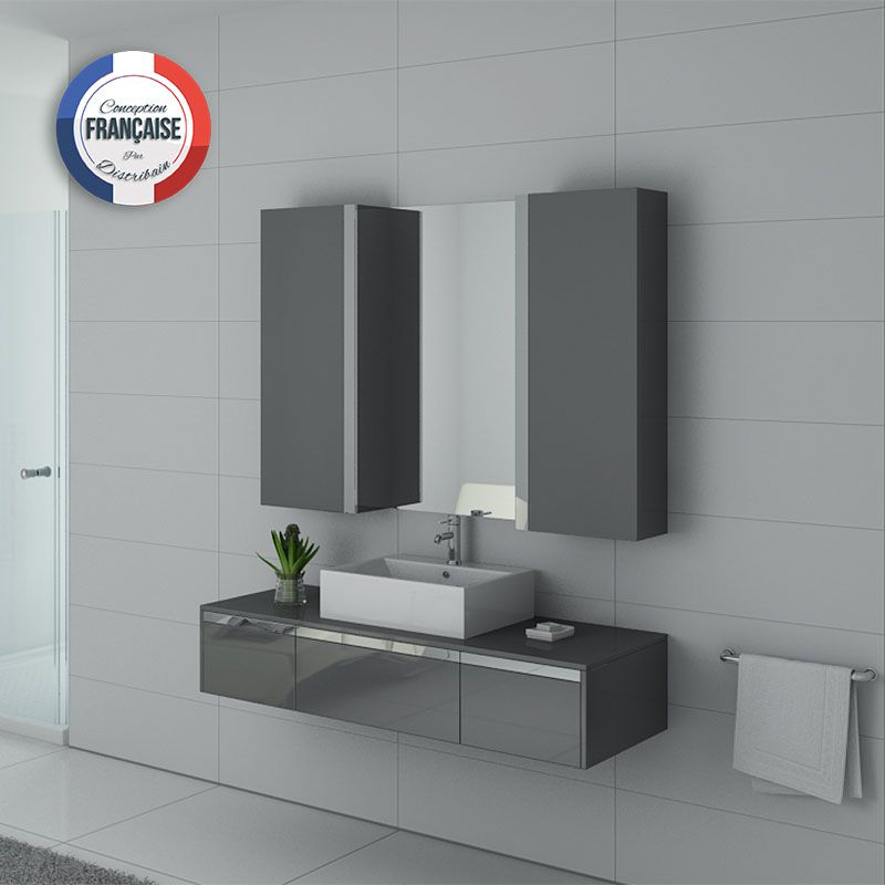 meuble de salle de bain gris meuble de salle de bain 140. Black Bedroom Furniture Sets. Home Design Ideas