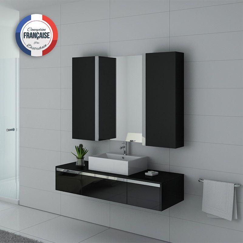 Meuble de salle de bain 140 cm simple vasque, meuble de salle de bain 140  cm DIS9650N - Distribain