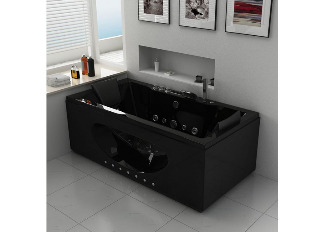 baignoire baln o 2 places rectangulaire ca man black baignoire rectangulaire baln o noire. Black Bedroom Furniture Sets. Home Design Ideas