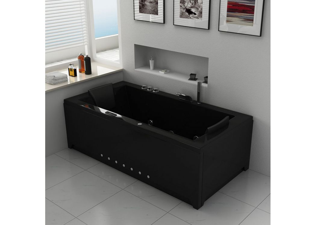 baignoire baln o rectangulaire 32 jets baignoire. Black Bedroom Furniture Sets. Home Design Ideas