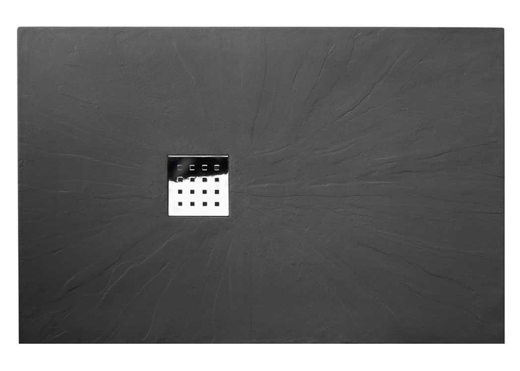 receveur de douche extra plat graphite pizarra. Black Bedroom Furniture Sets. Home Design Ideas