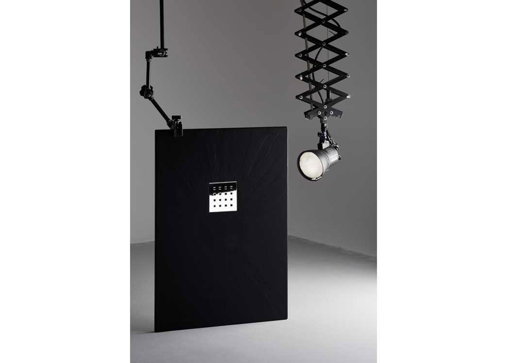 receveur de douche extra plat noir pizarra. Black Bedroom Furniture Sets. Home Design Ideas