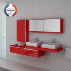 Ensemble double vasque DIS9551 Coquelicot