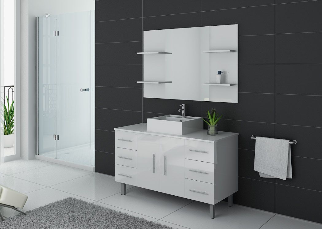 meuble de salle de bain 120 cm 1 vasque ensemble de salle. Black Bedroom Furniture Sets. Home Design Ideas