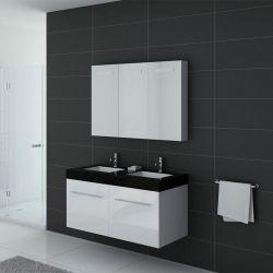Meuble de salle de bain double vasque Blanc