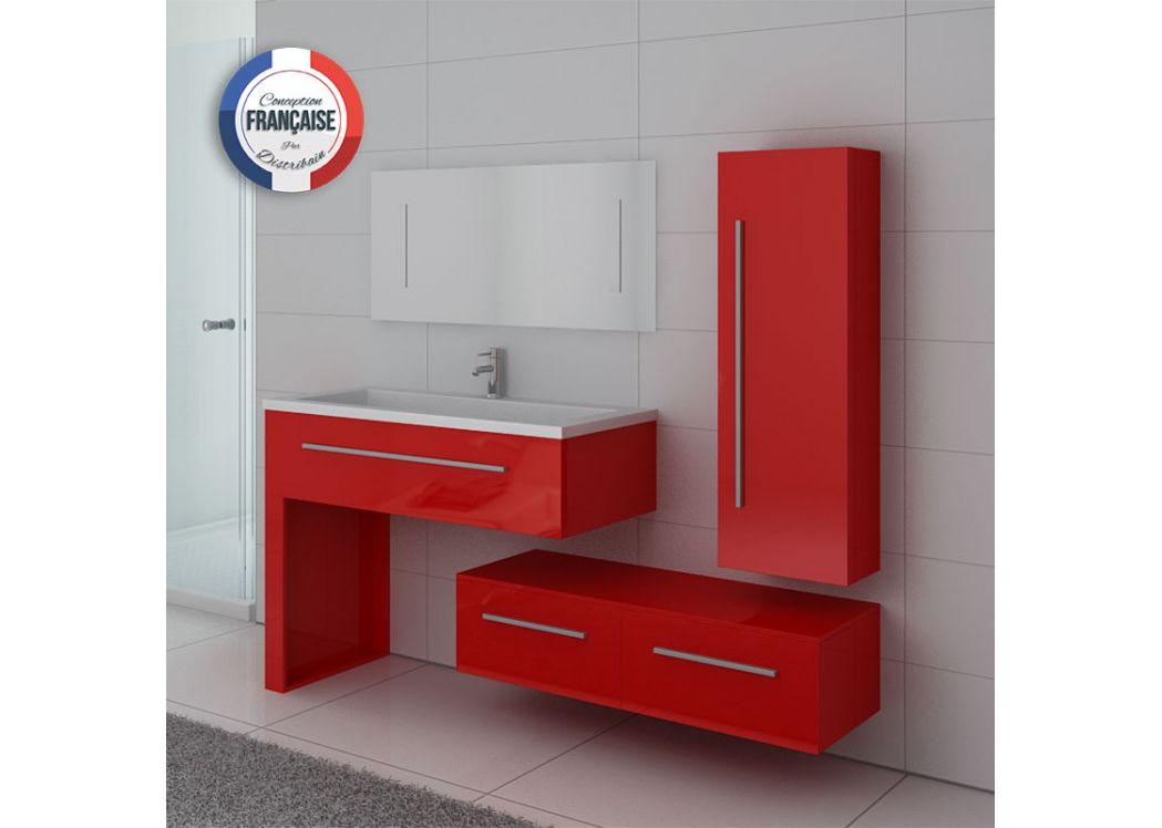 Ensemble simple vasque rouge de salle de bain dis9251co distribain - Miroir simple pas cher ...