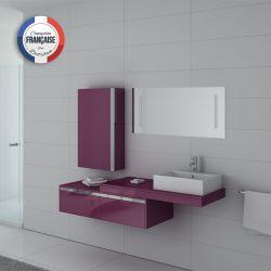 Meuble de salle de bain simple vasque DIS9550 Aubergine