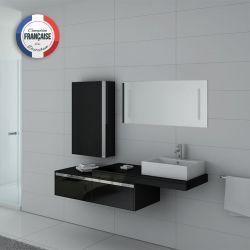 Lot de meubles simple vasque DIS9550 Noir