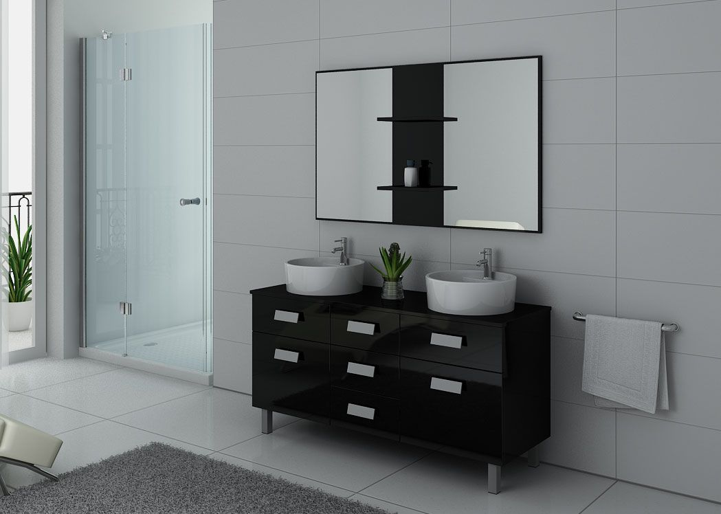 meuble double vasque salle de bain maison design. Black Bedroom Furniture Sets. Home Design Ideas