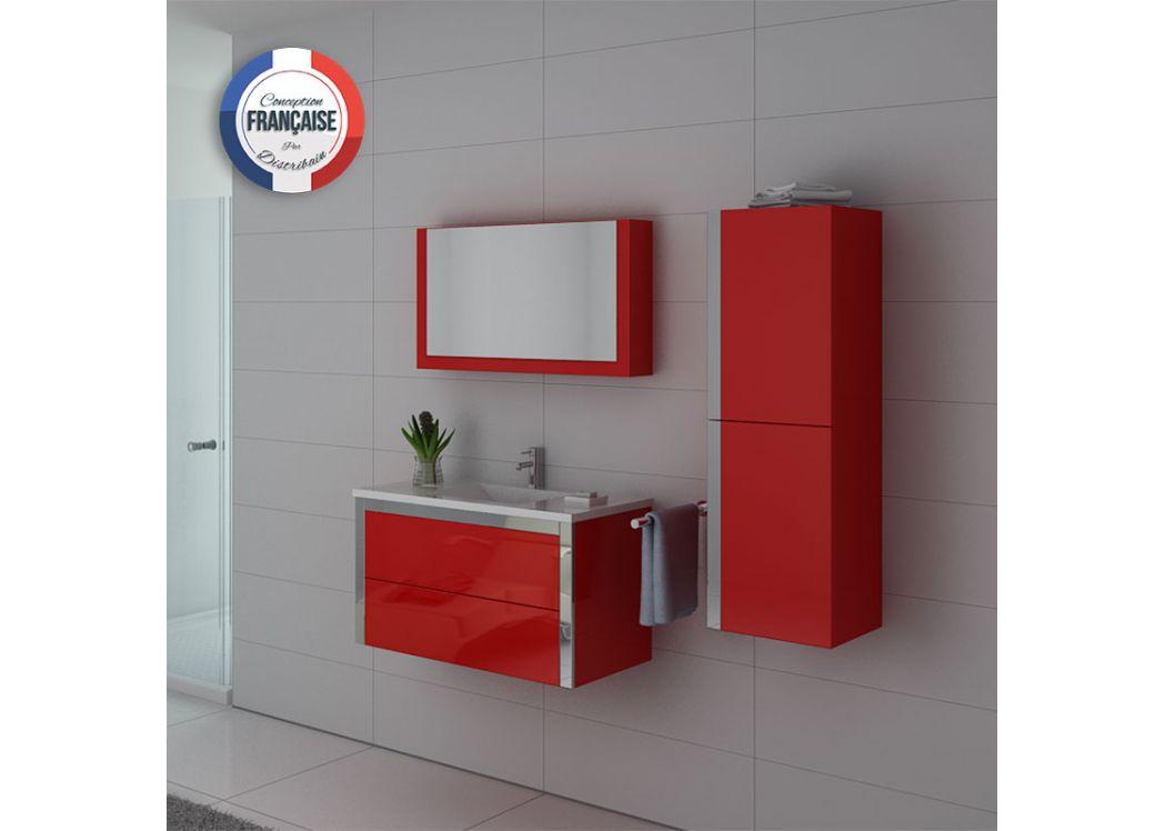 Meuble de rouge pour salle de bain meuble de salle de for Salle bain rouge