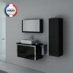 Meuble simple vasque DIS026-900 Noir