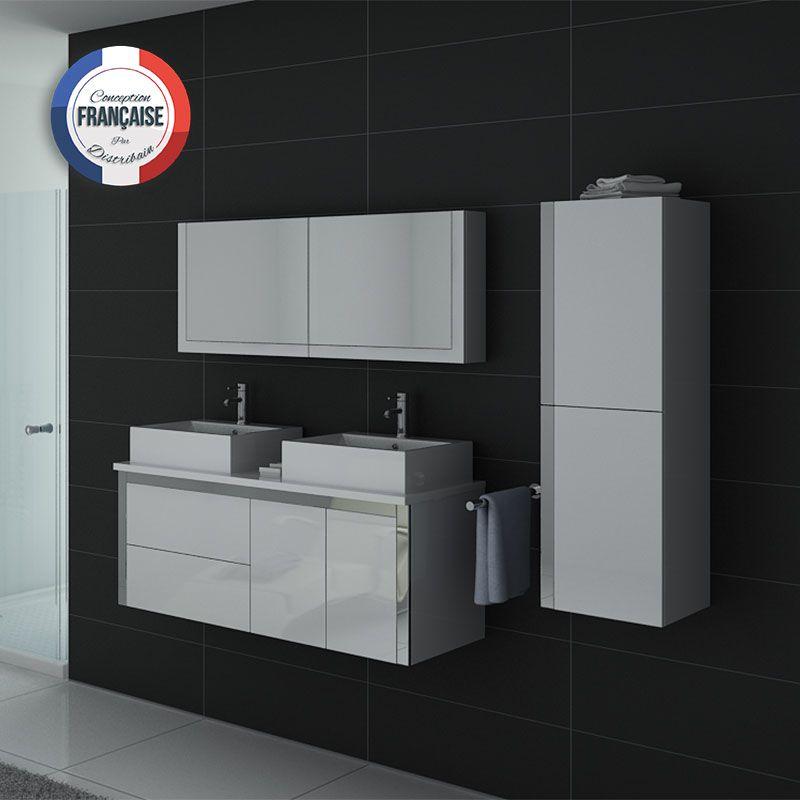 DIS026-1300 Blanc avec vasques en céramique