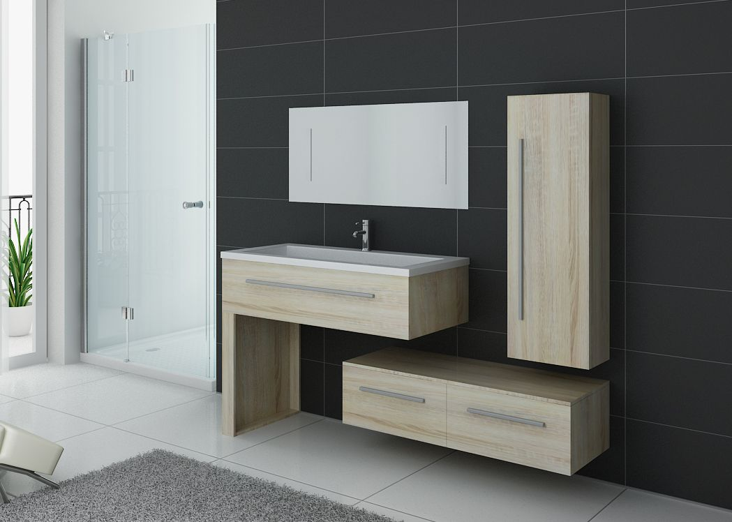 meuble simple vasque bois clair meuble simple vasque en bois pour salle de bain distribain. Black Bedroom Furniture Sets. Home Design Ideas