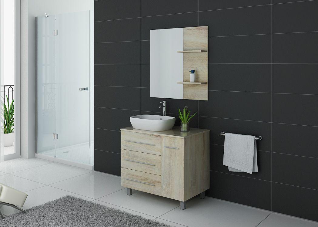 meuble de salle de bain simple vasque 80 cm meuble simple vasque pas cher toscane distribain. Black Bedroom Furniture Sets. Home Design Ideas