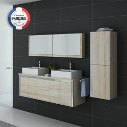 Meuble de salle de bains double vasque DIS026-1500 Scandinave