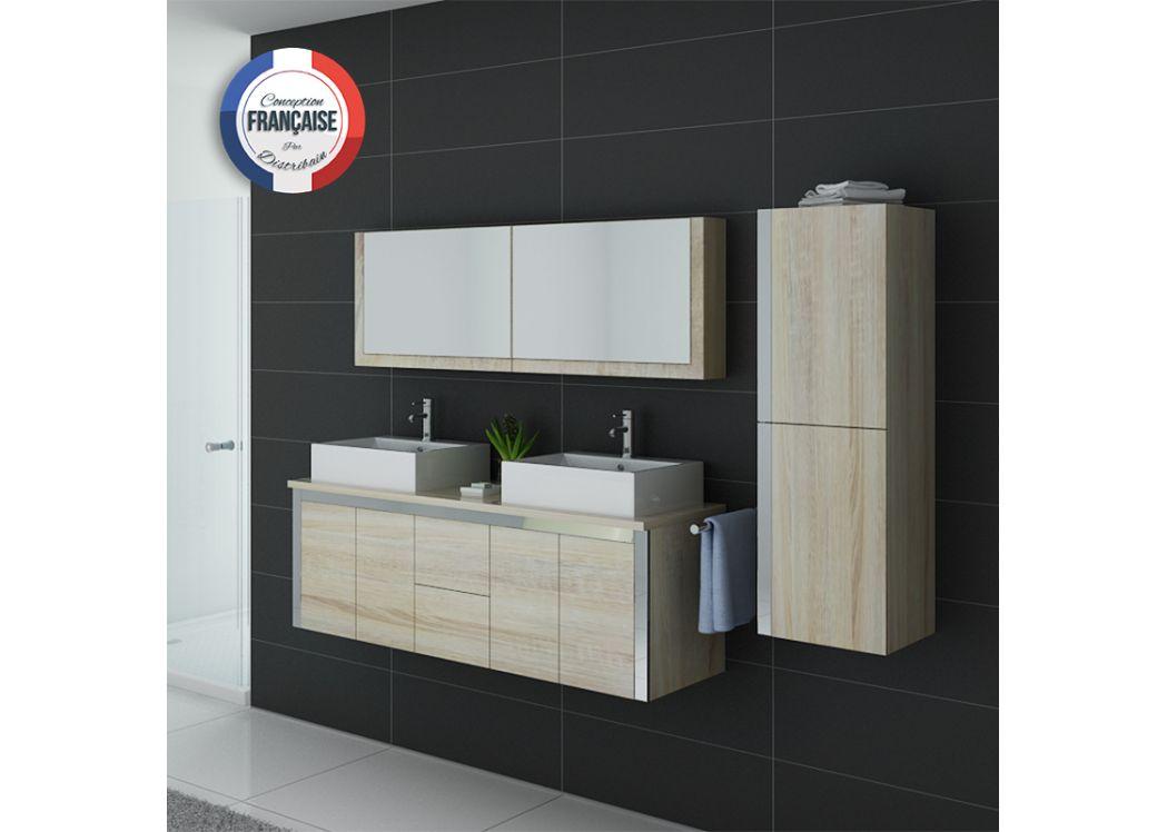 Ensemble meuble de salle de bain 2 vasques grand meuble - Ensemble meuble salle de bain double vasque ...