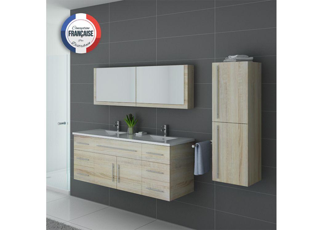 Meuble de salle de bain double vasque et colonne meuble for Meuble salle de bain double vasque et colonne