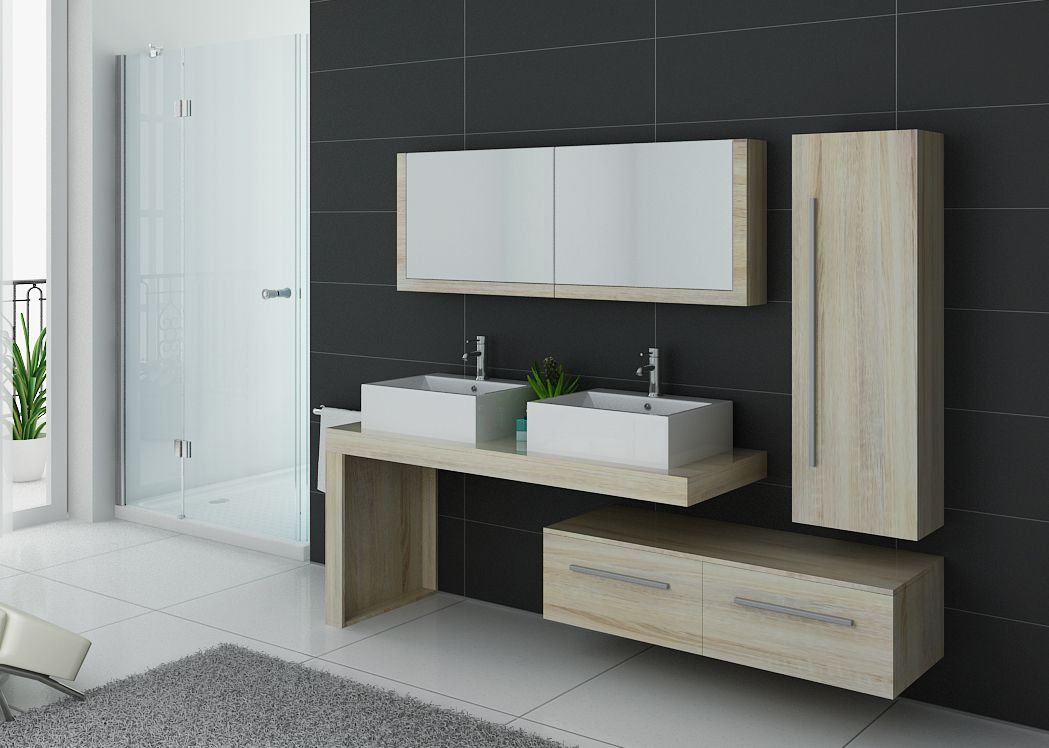 meuble de salle de bain 2 vasques design dis9350sc meuble deux vasques de salle de bain. Black Bedroom Furniture Sets. Home Design Ideas