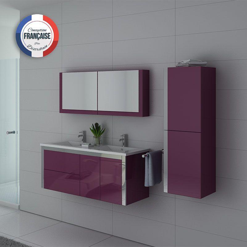 Ensemble meuble de salle de bain double vasque 120 cm - Hera ensemble salle de bain simple vasque 120 cm ...