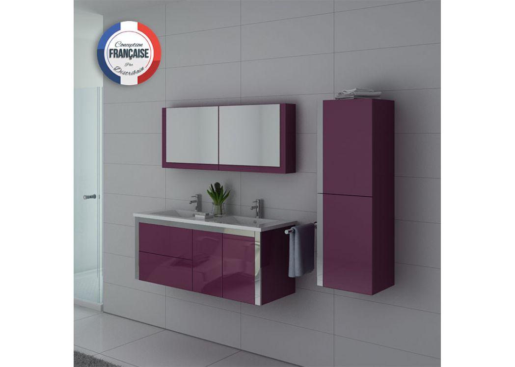 Ensemble meuble de salle de bain double vasque 120 cm for Ensemble meuble salle de bain solde